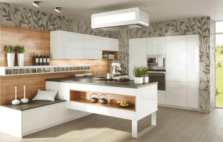 kuhinjski pult na sredini