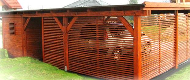 leseni nadstreški z lopo