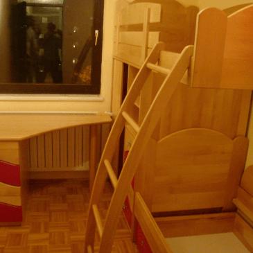 3 primeri otroških sob iz masivnega lesa