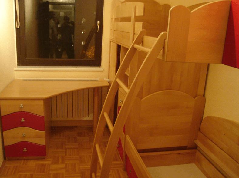 otroške sobe iz masivnega lesa