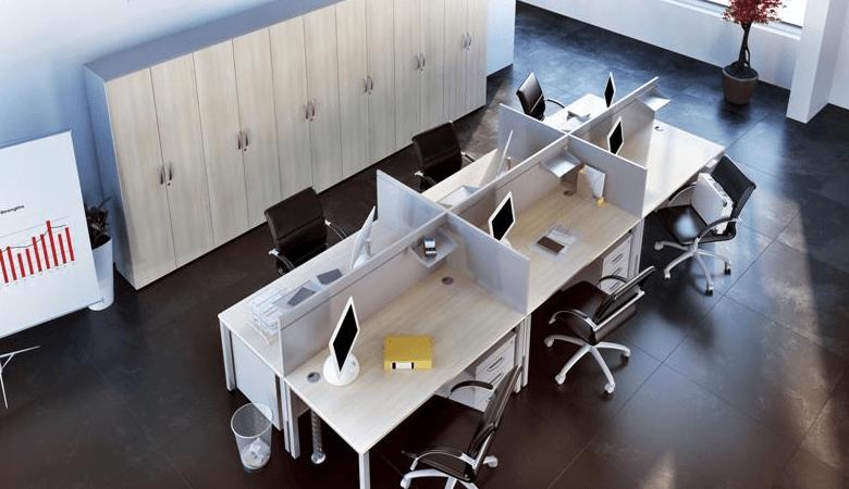 ureditev pisarne za več zaposlenih