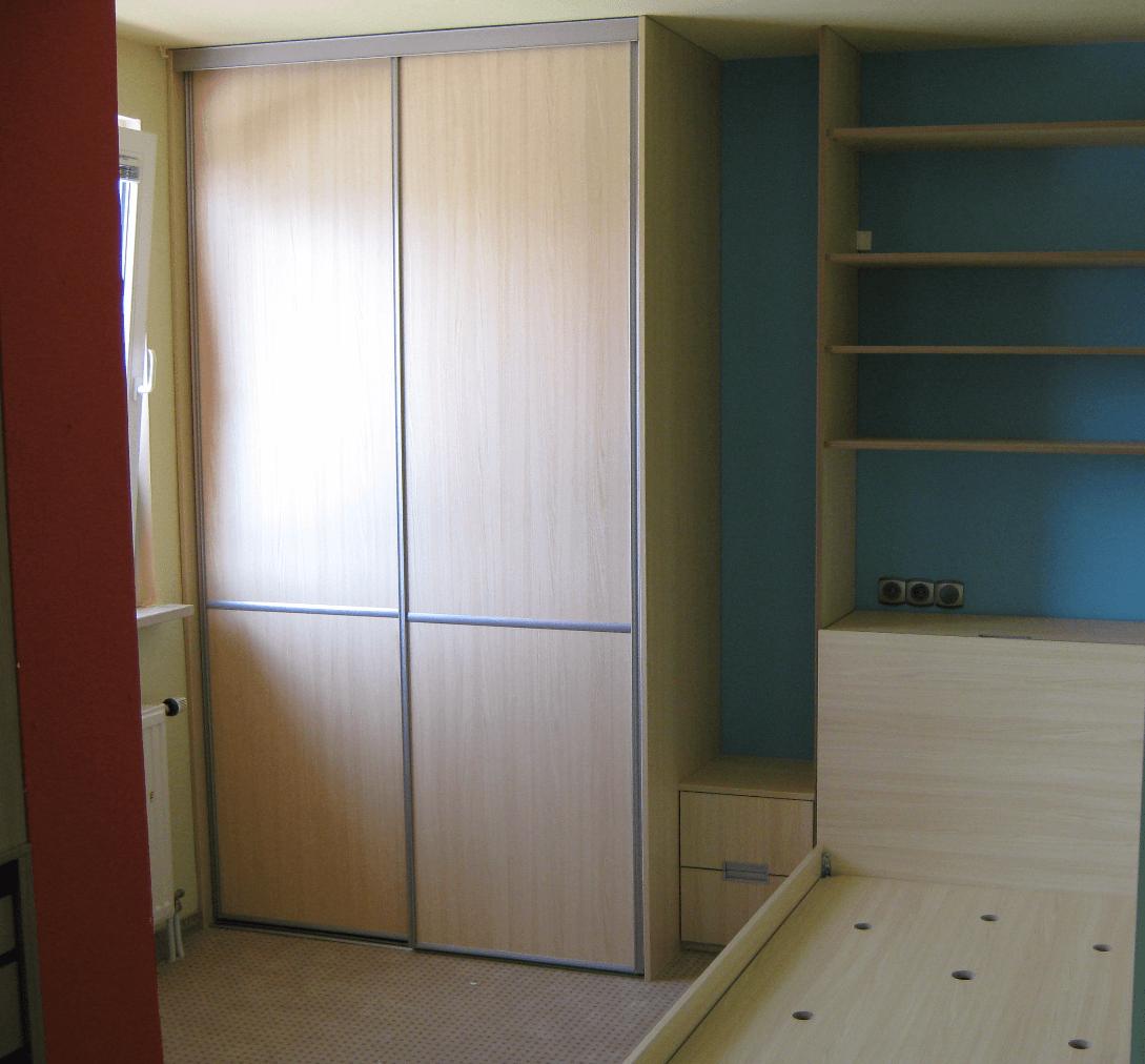 vgradna omara enojna postelja