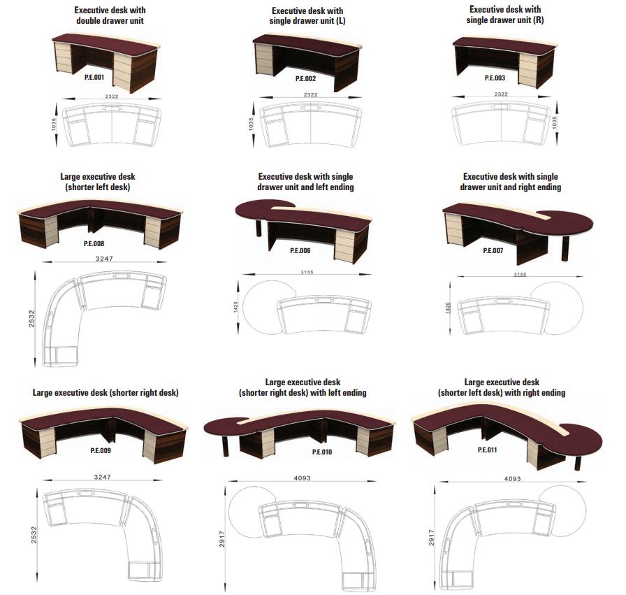 možnosti prilagajanja pisalnih miz