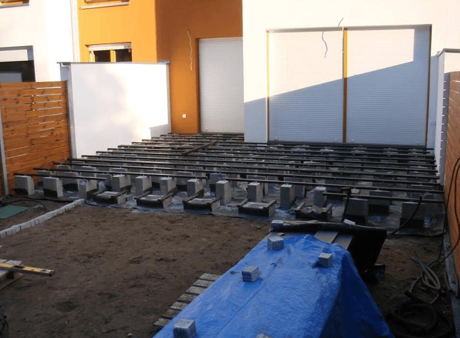 zunanja terasa polaganje talnih oblog