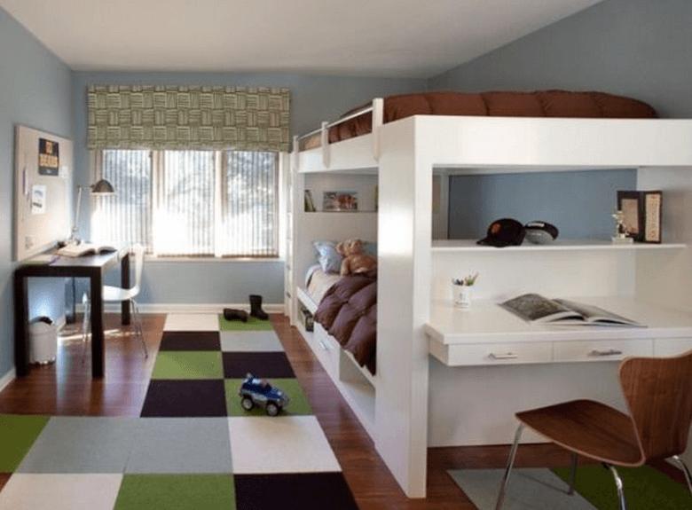 nadstropna postelja za dva