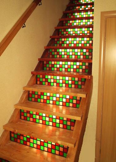 vitraž stopnice