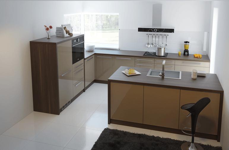 kotna postavitev kuhinje