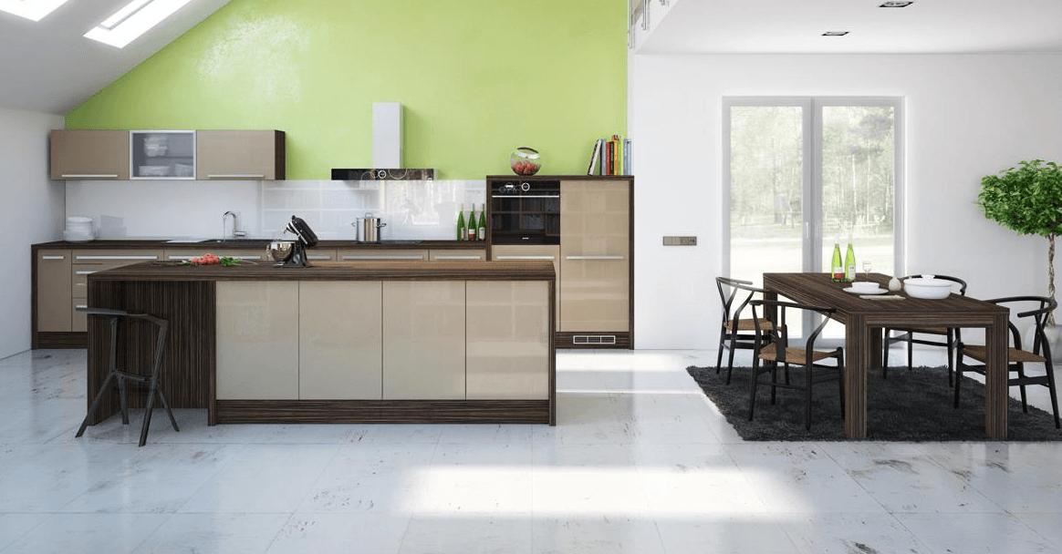 mansardna moderna kuhinja po naročilu