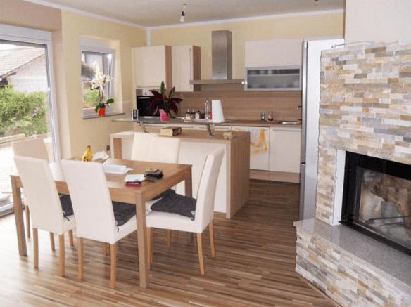 moderna kuhinja jedilnica