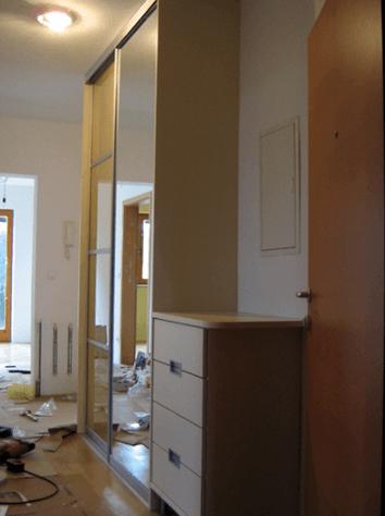 Pohištvo za garderobne prostore po meri