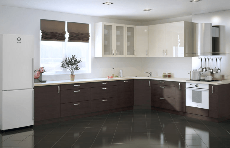 moderna kotna kuhinja