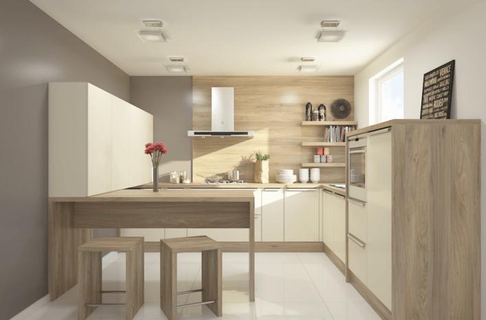 postavitev kuhinje v U