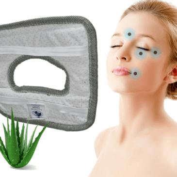 Spalni pripomoček za naravno magnetno terapijo obraza