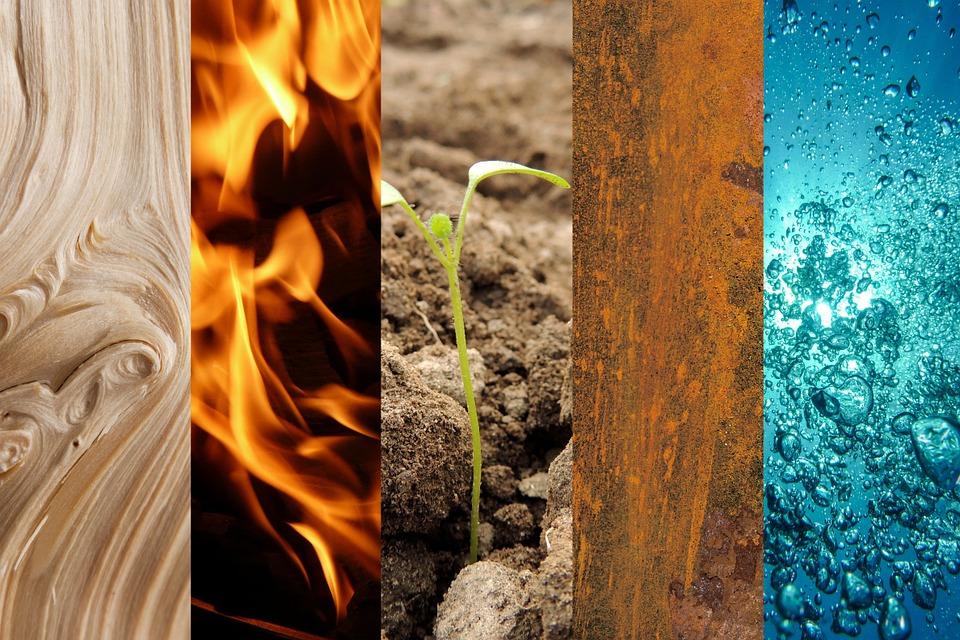 pet elementov po feng shui