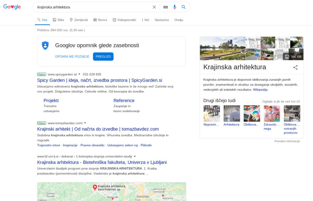 oglaševanje na googlu